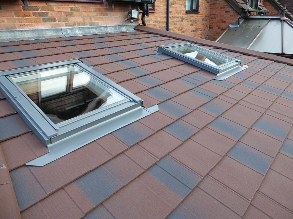 External view of tiled conservatory roof