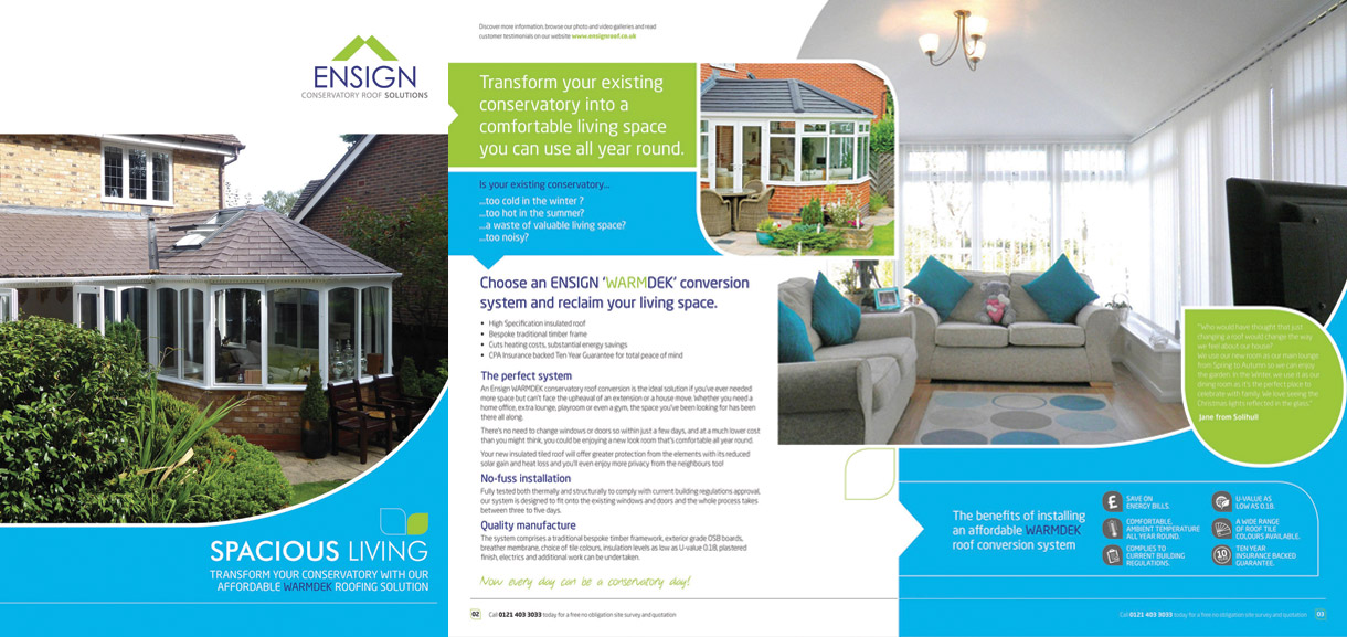 request online brochure for conservatory roofs ensign
